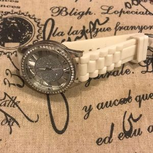 Accessories - Silver watch with gems
